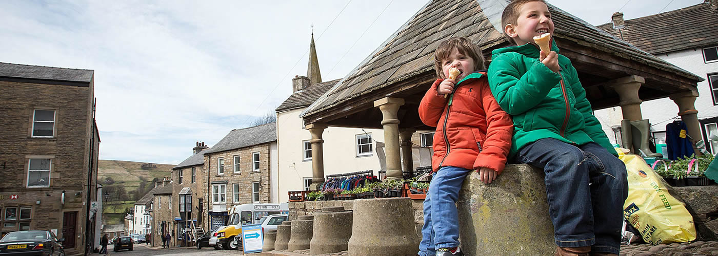 Eating ice-cream at Alston