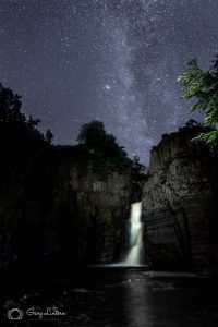 Milky Way rising above High Force.