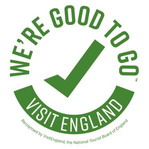 We're Good to Go logo to show that we agree to Visit England recommendations for covid safety